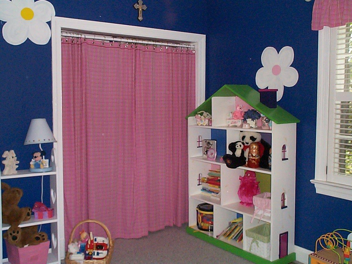 Closet curtains for kids - Painted A Softer Blue Embellished With Sweet Dragonflies And Removed The Curtain Entirely
