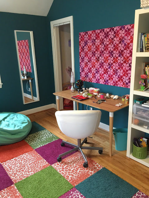 Before/After :: Pin Board for a Teen Bedroom