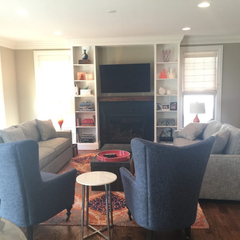 Before/After :: A Family Room Livens Up