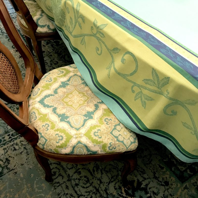 A Dining Room with Color and Pattern