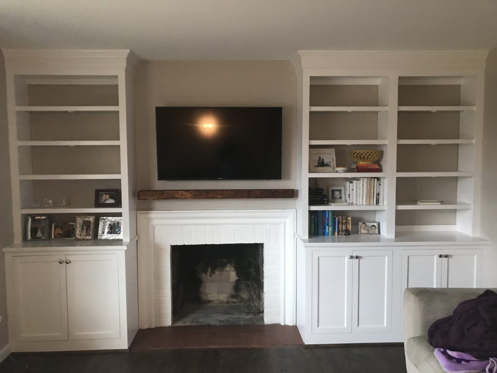 Before After Designing Around An Off Center Fireplace