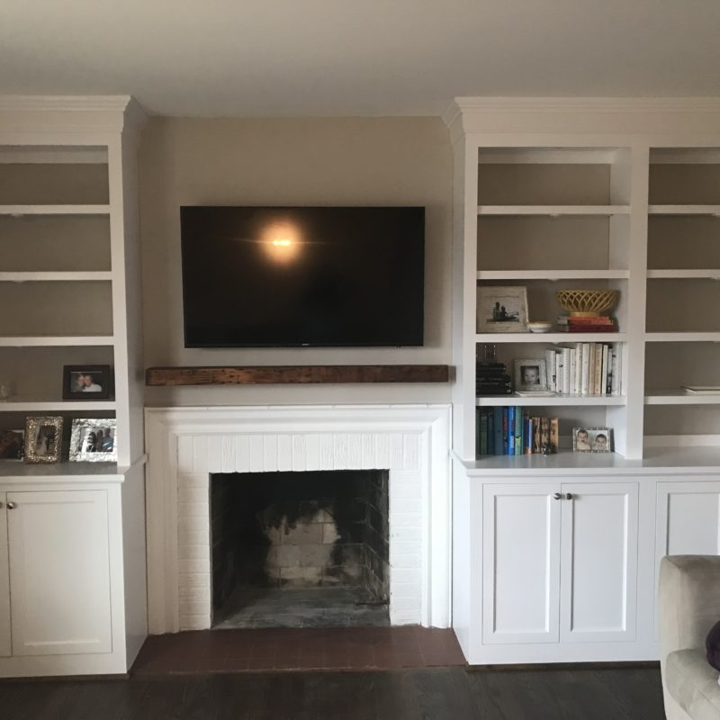 Before/After :: Designing Around an Off-Center Fireplace